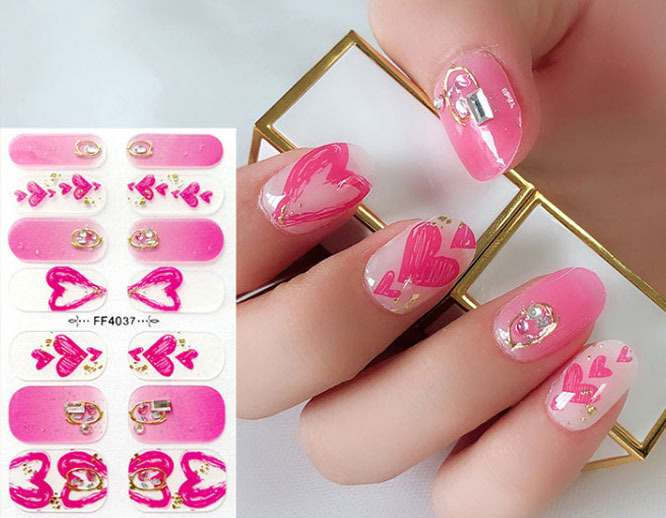 Part Hot Stamping  Imitation Diamond 3D Nail Stickers