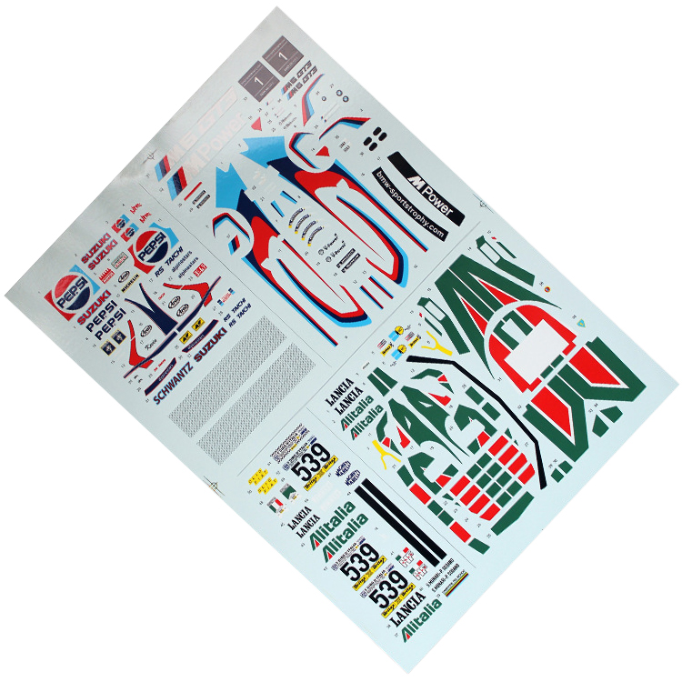 Print Custom Scale Model Cars Decals